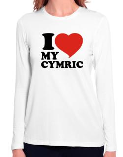 I Love My Cymric Long Sleeve T-Shirt-Womens
