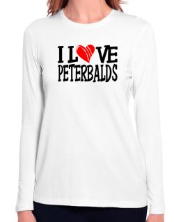 I Love Peterbalds - Scratched Heart Long Sleeve T-Shirt-Womens