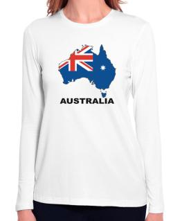 Australia - Country Map Color Long Sleeve T-Shirt-Womens