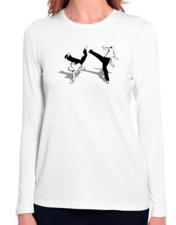 Capoeira fight Long Sleeve T-Shirt-Womens