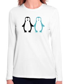 Penguin Always together Long Sleeve T-Shirt-Womens