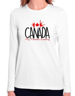 Canada my favorite country Long Sleeve T-Shirt-Womens