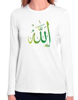 Allah arabic character Long Sleeve T-Shirt-Womens