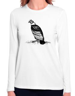 Andean Condor sketch Long Sleeve T-Shirt-Womens