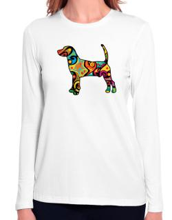 Psychedelic North Country Beagle Long Sleeve T-Shirt-Womens