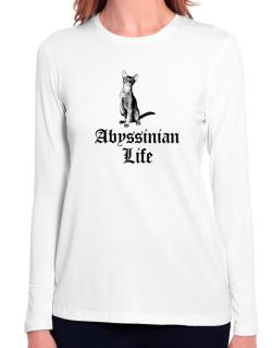 Abyssinian life Long Sleeve T-Shirt-Womens