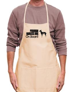 Peruvian Hairless Dog On Board Apron
