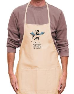 My American Bulldog Waits For Me In Heaven Apron