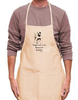 Happiness is a American Bulldog Apron