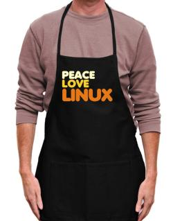 Peace Love Linux Apron