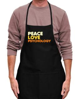 Peace Love Psychology Apron