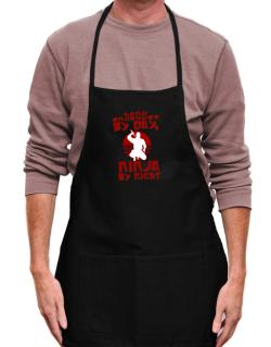 Hand Engraver By Day, Ninja By Night Apron