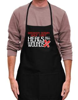 Broken Down Golf Cart  heals All Wounds Apron
