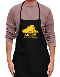 Angry Is My Middle Name Apron