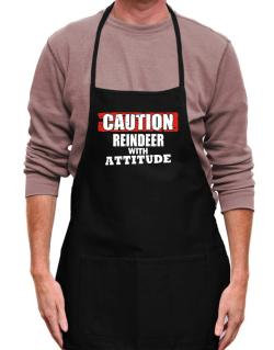 Caution - Reindeer With Attitude Apron