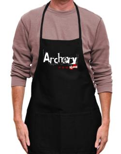 Archery Is In My Blood Apron