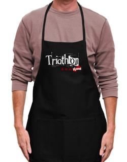 Triathlon Is In My Blood Apron