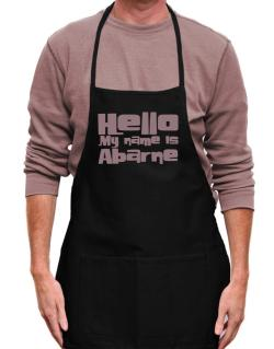 Hello My Name Is Abarne Apron