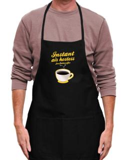 Instant Air Hostess, just add coffee Apron