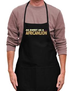 As Sweet As An African Lion Apron