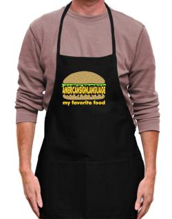American Sign Language My Favorite Food Apron