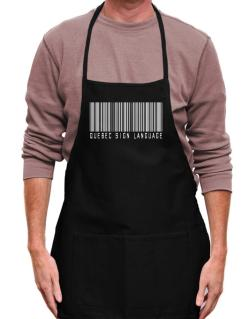 Quebec Sign Language Barcode Apron