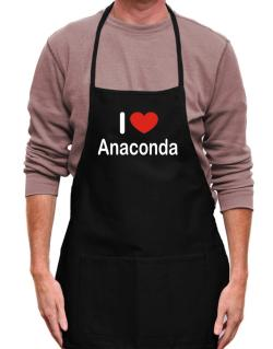 I Love Anaconda Apron