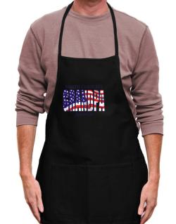 Grandpa Asheville - Us Flag Apron