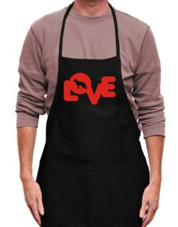 Love Silhouette German Shepherd Apron