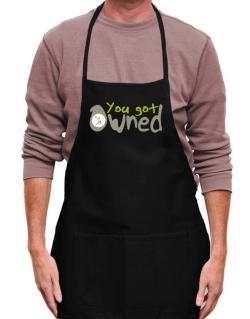 """  YOU GOT OWNED Pickleball  "" Apron"