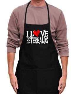 I Love Peterbalds - Scratched Heart Apron