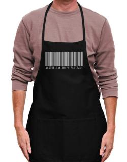 Australian Rules Football Barcode / Bar Code Apron