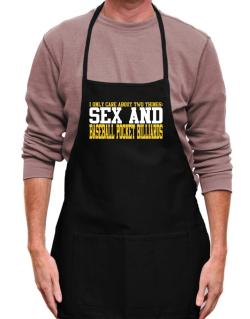 I Only Care About 2 Things : Sex And Baseball Pocket Billiards Apron