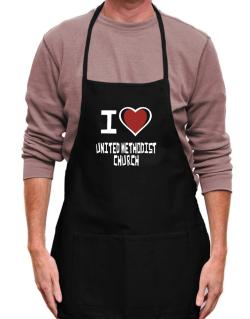I Love United Methodist Church Apron