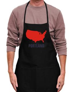 Portland - Usa Map Apron