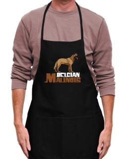 Belgian malinois cute dog Apron