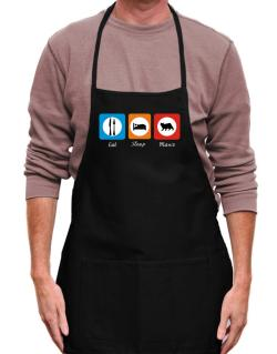 Eat sleep Manx Apron
