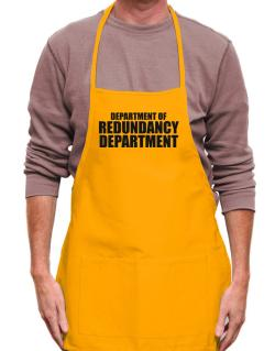 Department Of Redundancy Department Apron