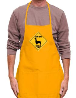 """ Dogs at play Dachshund ""  Apron"
