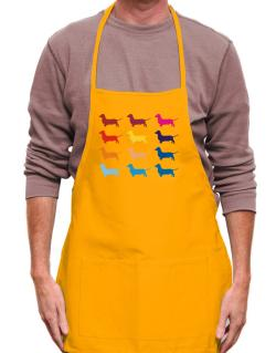 Colorful Dachshund Apron