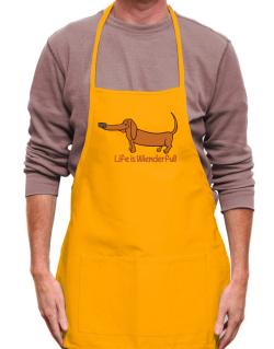 Dachshund life is Wienderful!  Apron