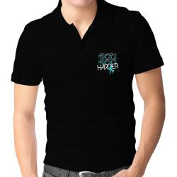 PRACTICE HARDER Pickleball  Polo Shirt