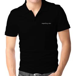 #Sparkling Wine Hashtag Polo Shirt