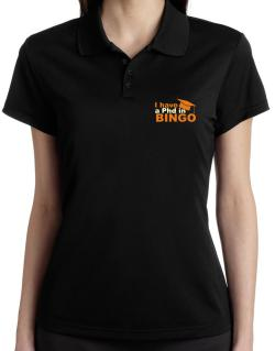 I Have A Phd In Bingo Polo Shirt-Womens