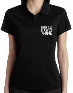 Skipping Class Is Everything Polo Shirt-Womens