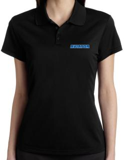 Aviator Polo Shirt-Womens