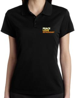 Peace Love Astronomy Polo Shirt-Womens