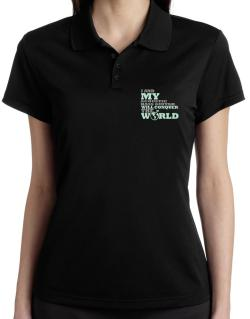 I And My Acoustic Bass Guitar Will Conquer The World Polo Shirt-Womens
