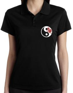 Yin Yang Leo Polo Shirt-Womens