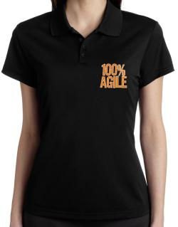 100% Agile Polo Shirt-Womens
